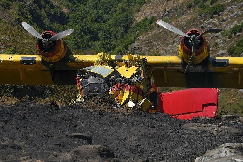Incêndios: Co-piloto ferido no acidente do 'Canadair'