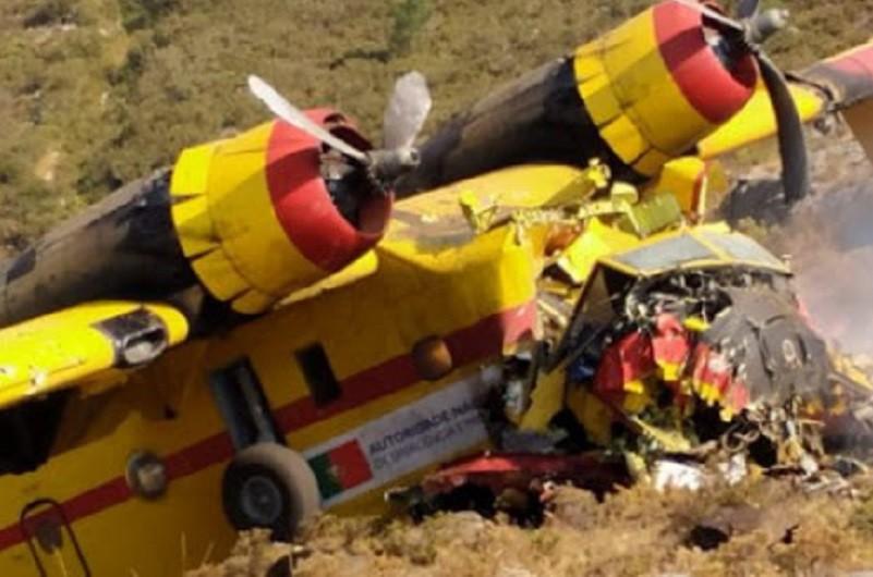 Incêndios: Proteção civil lamenta morte de piloto do 'Canadair' que caiu na Peneda Gerês