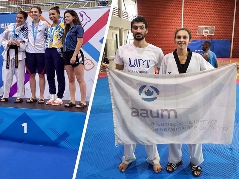 Sofia Cruz é campeã europeia universitária de taekwondo