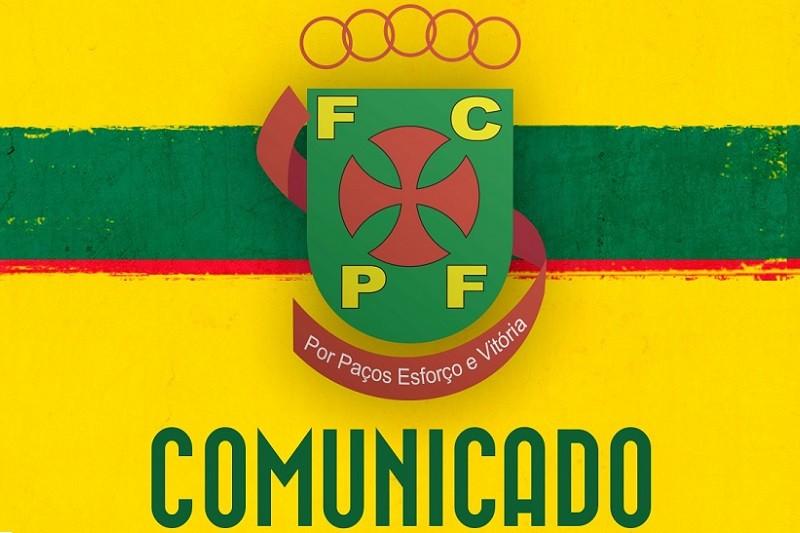 Paços de Ferreira com dois casos de covid-19 em dia de jogo com o Sporting
