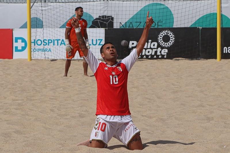 Sporting-Sporting Clube de Braga na primeira jornada da fase final de futebol de praia