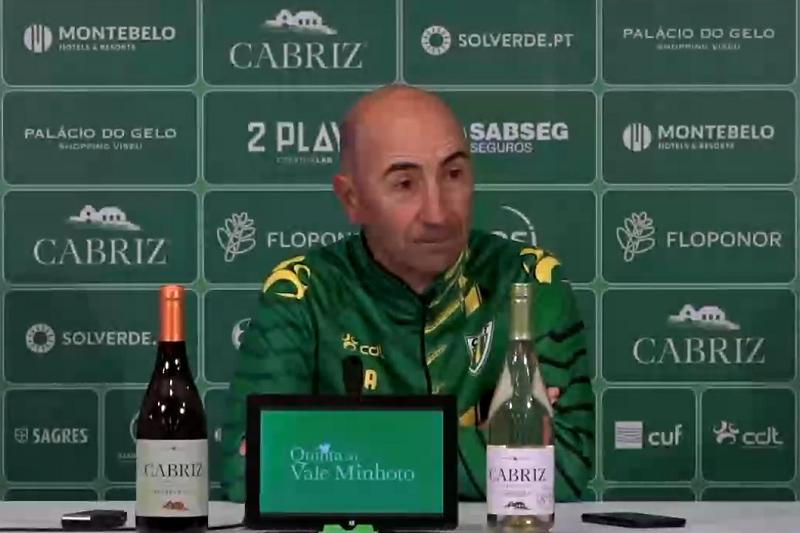 Treinador do Tondela diz ter equipa capaz de vencer Gil Vicente