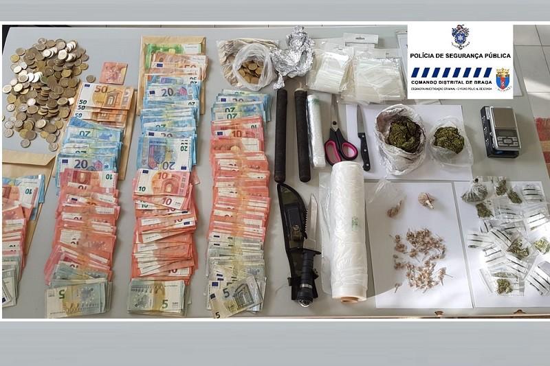 Dez detidos em operação de combate ao tráfico de droga em Braga