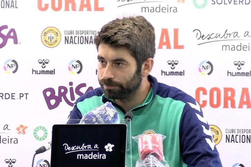 Luís Freire diz que o jogo com o Moreirense é 'importantíssimo para o Nacional'