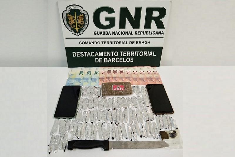 Famalicão: GNR deteve reincidente em tráfico de droga