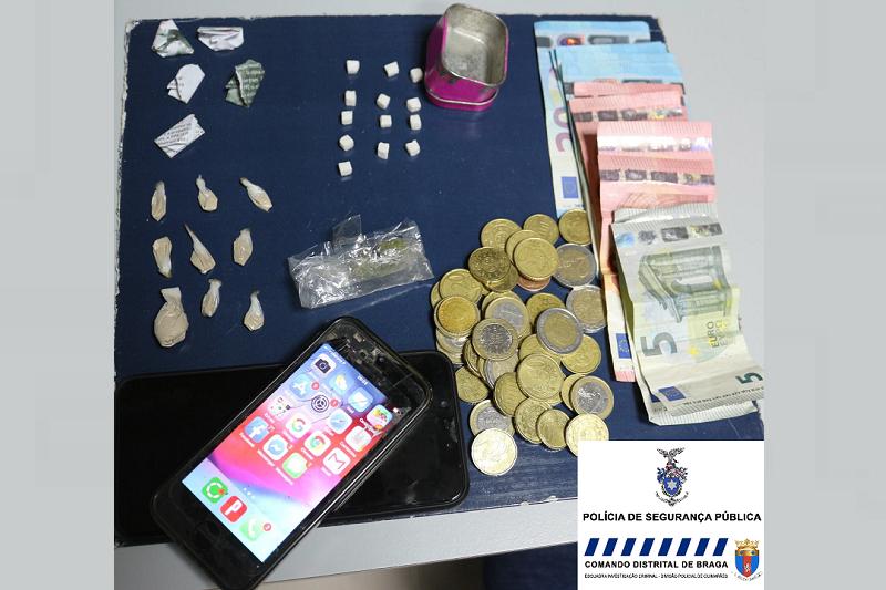 Guimarães: PSP deteve suspeito de tráfico de droga