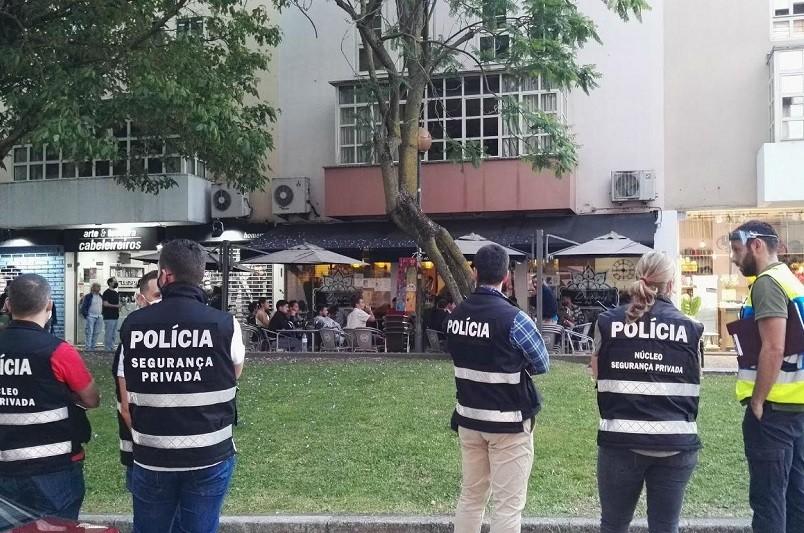 PSP identifica adeptos do Vitória por incumprimento de distanciamento social