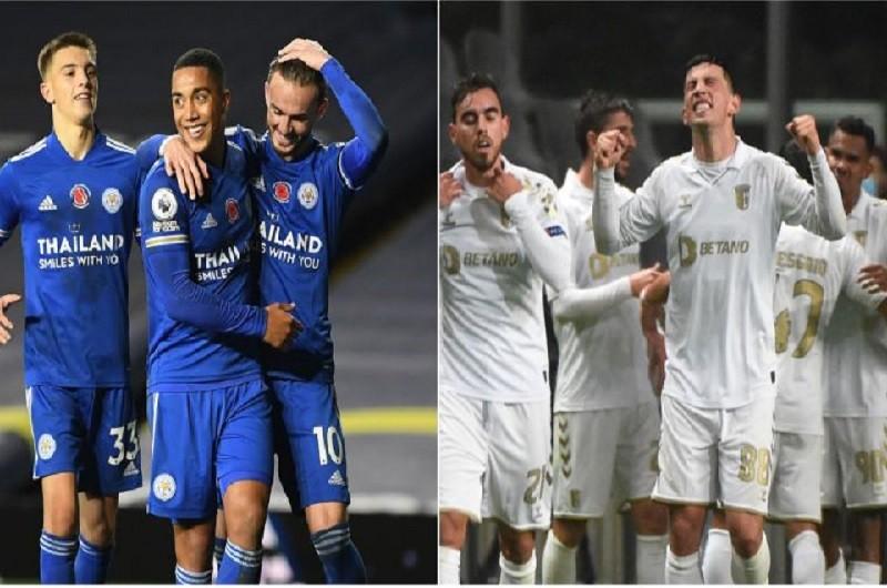 LE: Braga e Benfica discutem lideranças com Leicester E Rangers