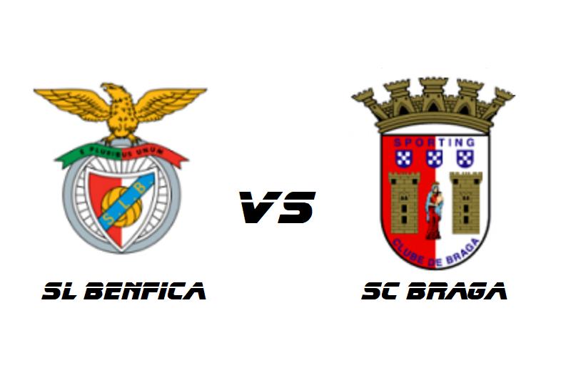 Benfica e Sporting Clube de Braga enfrentam-se separados por três pontos