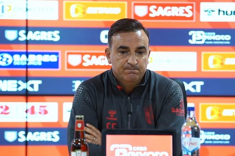 Taça Portugal: Carvalhal diz que Braga tem que fazer 'jogo muito sério' para passar