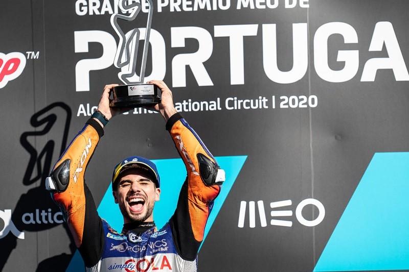 MotoGP/Portugal: Miguel Oliveira feliz por poder dedicar vitória a todos os portugueses