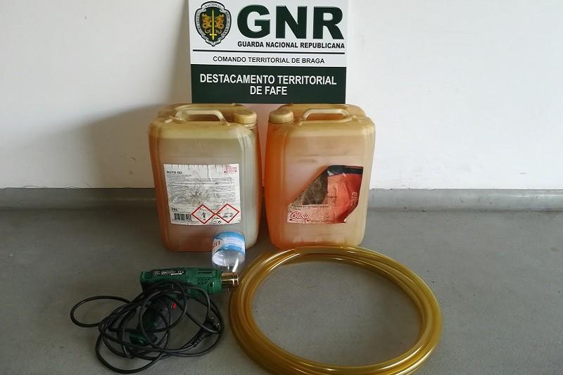 Fafe: GNR detém em flagrante homem de furtava gasóleo