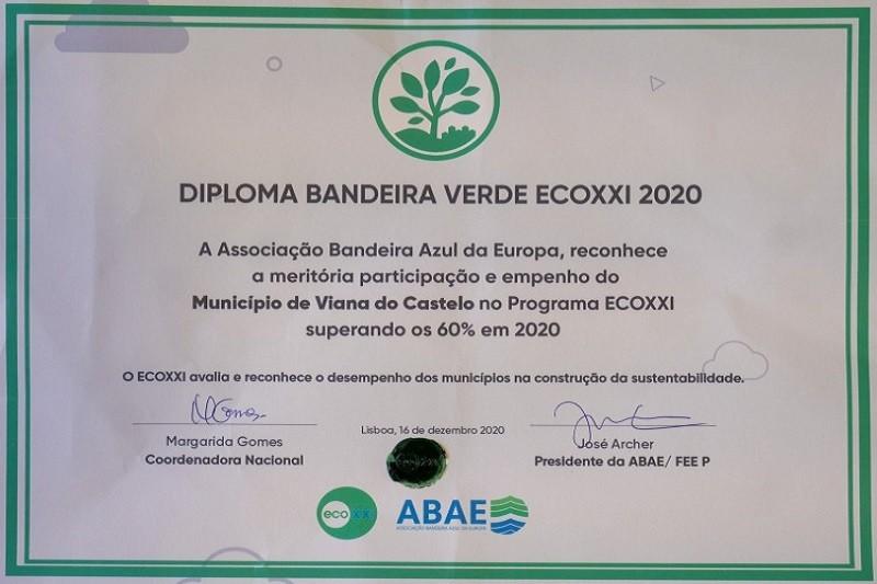 Viana do Castelo conquista bandeira Verde Eco XXI para 2020