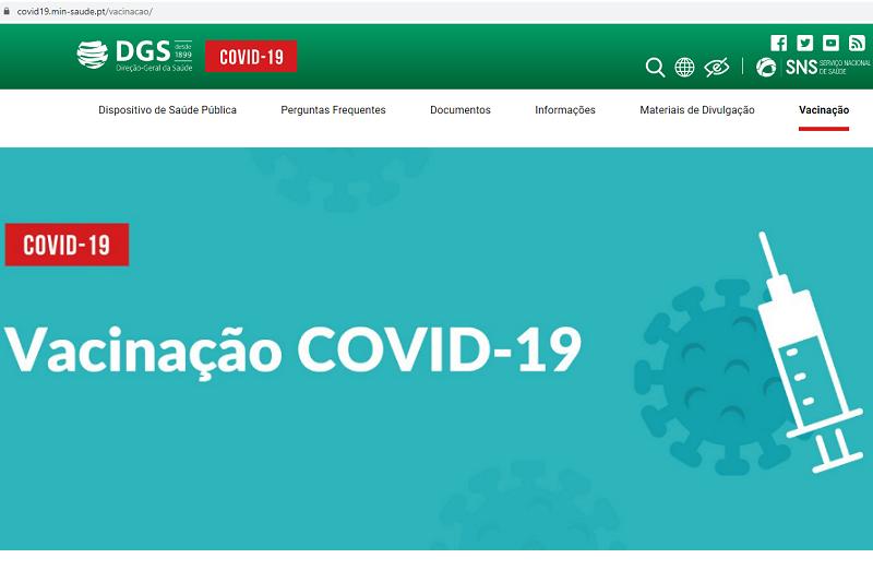 Portugueses têm disponível a partir de hoje portal dedicado à vacinação contra a covid-19