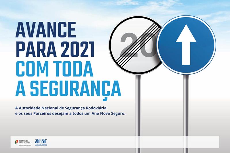 Autoridade rodoviária lança campanha 'Avance para 2021 com toda a segurança'