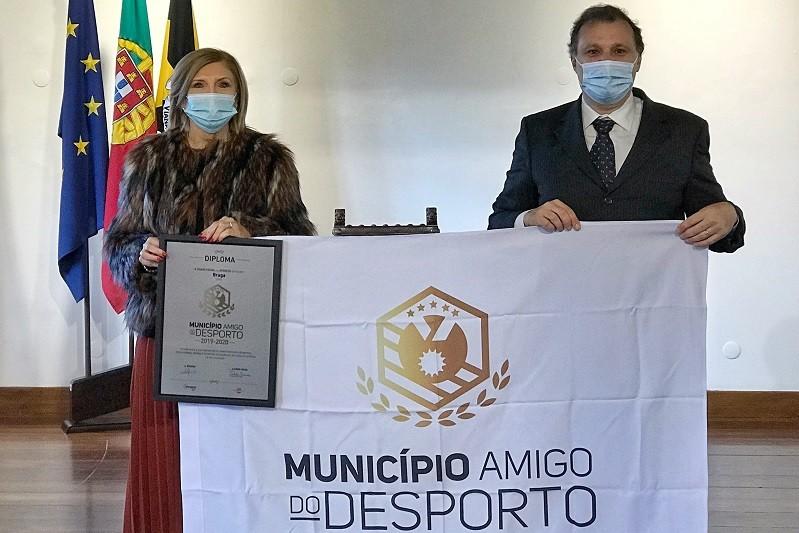 Braga distinguida com o galardão 'Município Amigo do Desporto'