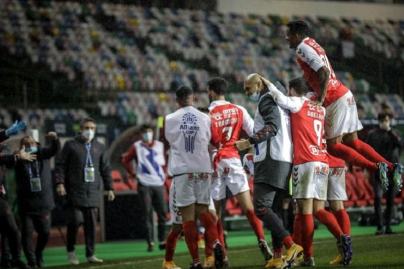 Sporting Clube de Braga pela quarta vez na final da Taça da Liga em futebol ao bater Benfica