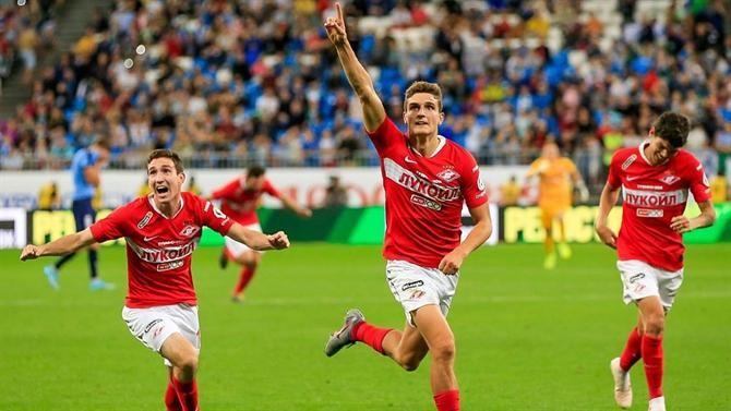Spartak Moscovo vence em tempo de descontos antes de receber Sporting de Braga