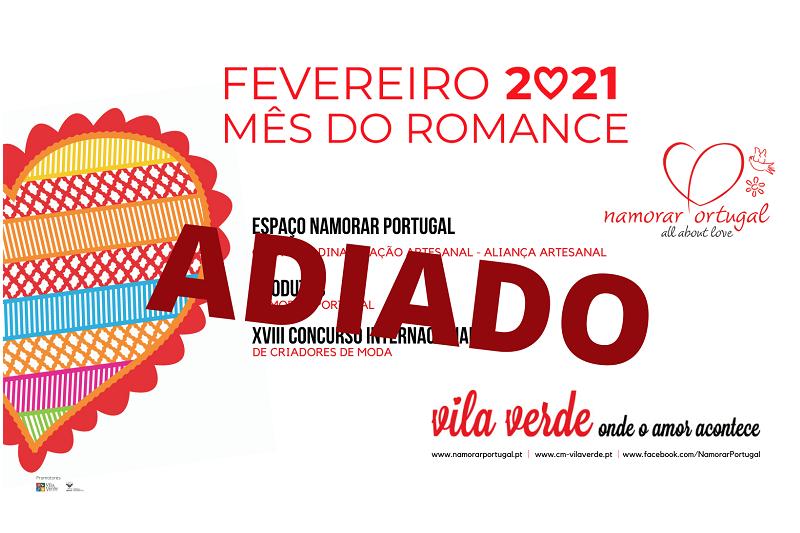 'Fevereiro, Mês do Romance'. Programação adiada devido ao agravamento da pandemia de COVID-19
