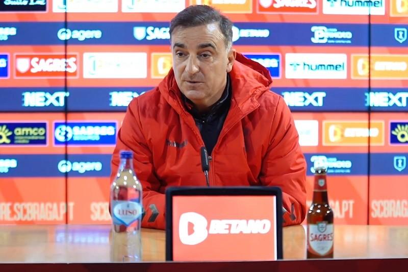 Carlos Carvalhal garante Sporting de Braga 'preparadíssimo' para o Santa Clara