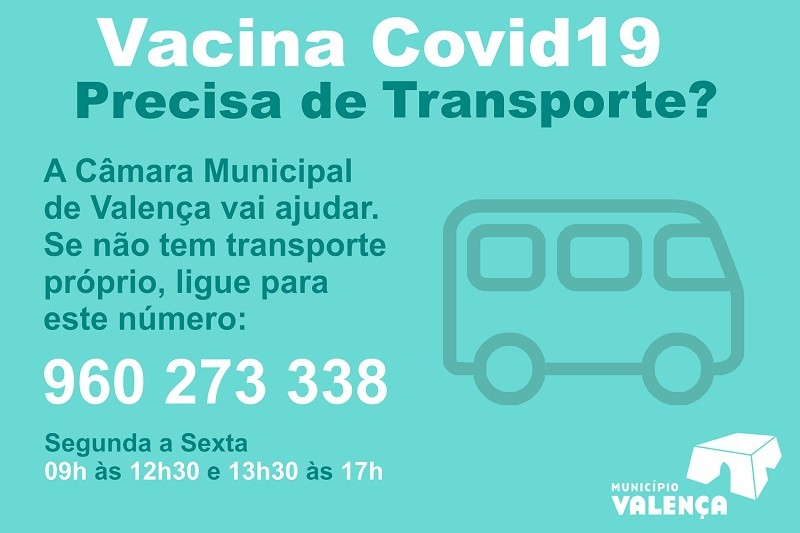 Câmara de Valença disponibiliza transporte para vacinação contra covid-19