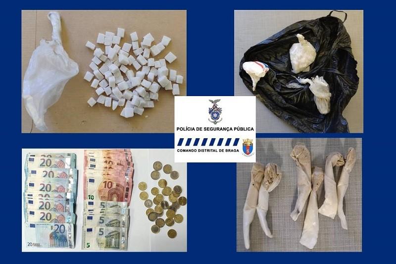 PSP de Braga deteve dois suspeitos de tráfico de droga