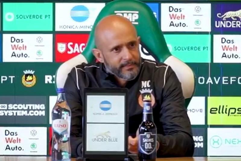 Miguel Cardoso assume desconforto pela posição do Rio Ave na I Liga