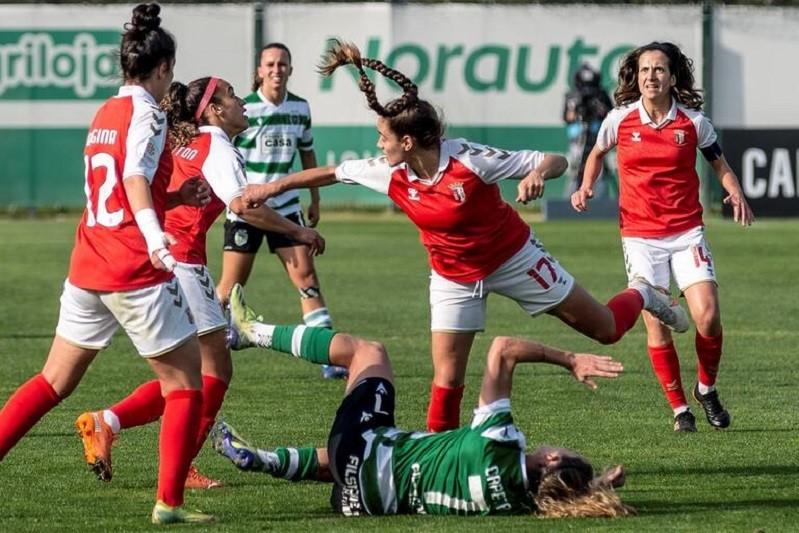 Sporting de Braga impõe primeira derrota ao Sporting na Liga feminina