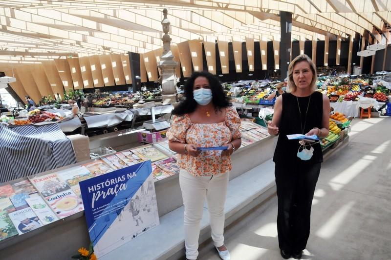 Histórias na Praça promove leitura no Mercado Municipal