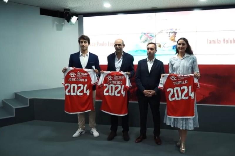 Nadadores Tamila Holub e José Paulo Lopes renovam até 2024 com Sporting Clube de Braga