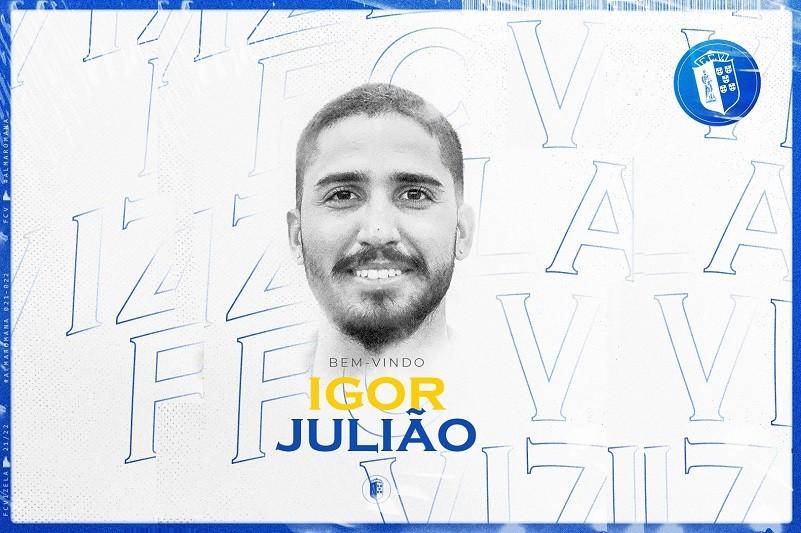 Vizela oficializa defesa Igor Julião por duas épocas e mais uma de opção