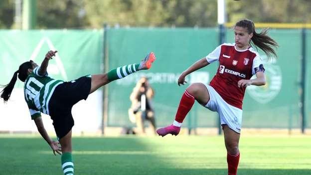 Sporting vence Sporting de Braga na estreia da Liga de futebol feminino 2019/20