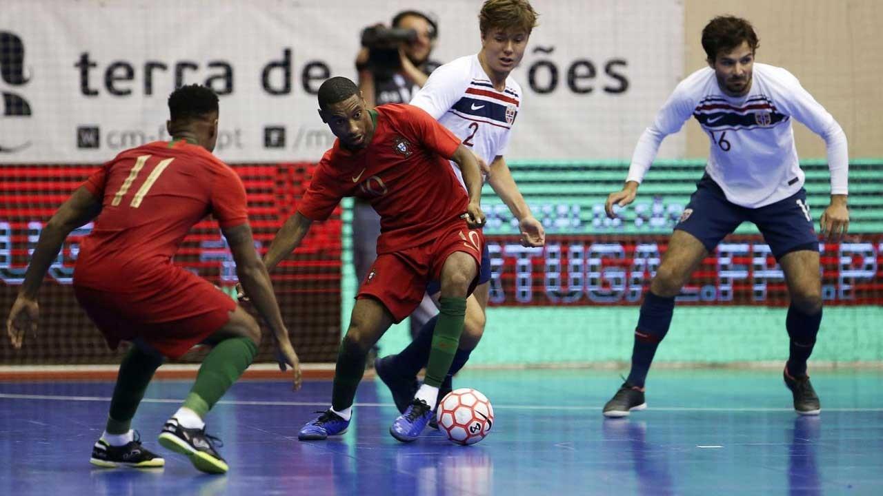 Seleção de futsal volta a derrotar Noruega com domínio total