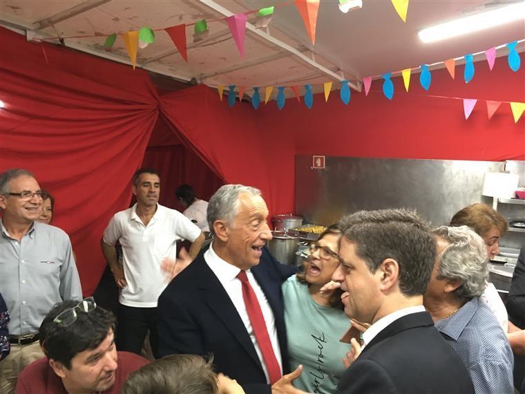 Marcelo diz que em dia de S. João questões políticas não interessam