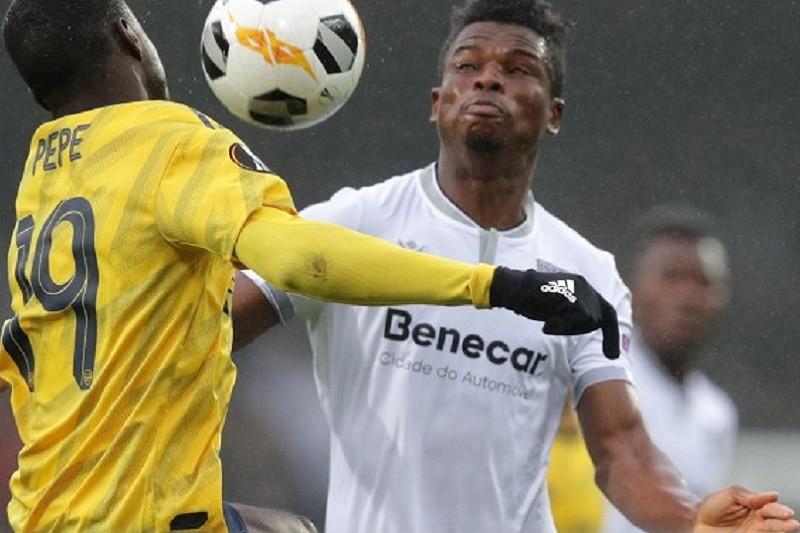 LE: Vitória 'empata' Arsenal com golo acrobático de Bruno Duarte nos descontos