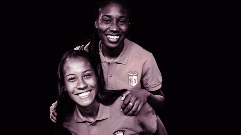 Rayanne Machado e Sade Pratt são reforços do Braga no futebol feminino