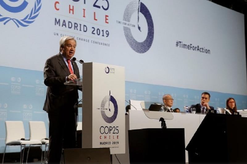 COP25: António Guterres quer países do mundo a ultrapassar divisões para salvar o planeta