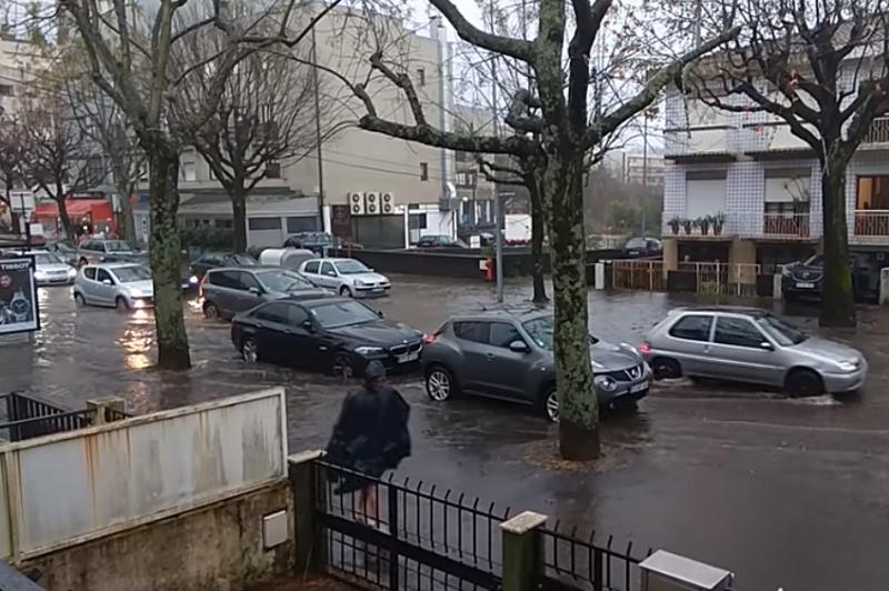 Mau tempo: Cidade de Braga inundada por