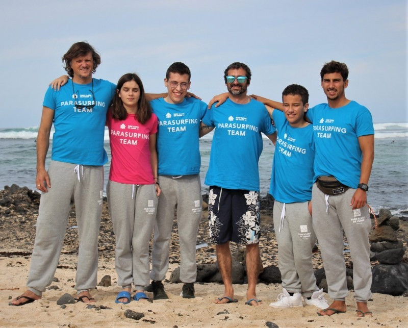 Parasurfing Team do SCV estagia em Fuerteventura