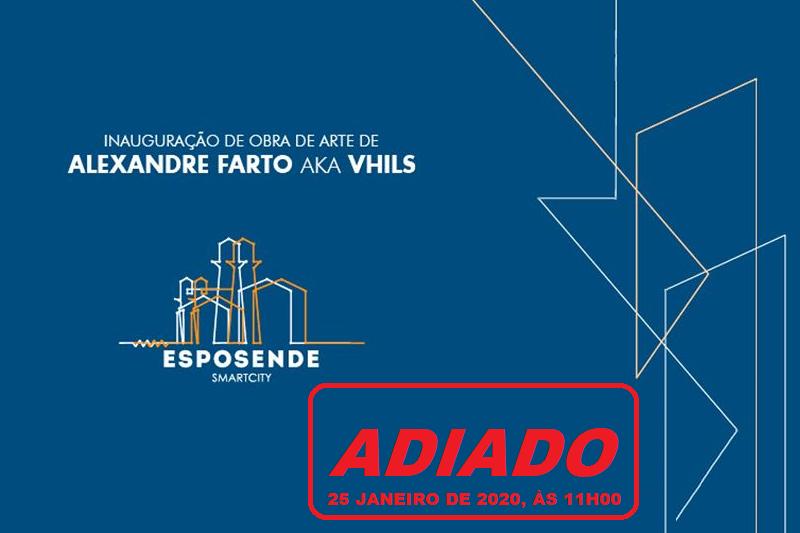 Luto por Paulo Gonçalves adia inauguração de obra de Vhils em Esposende