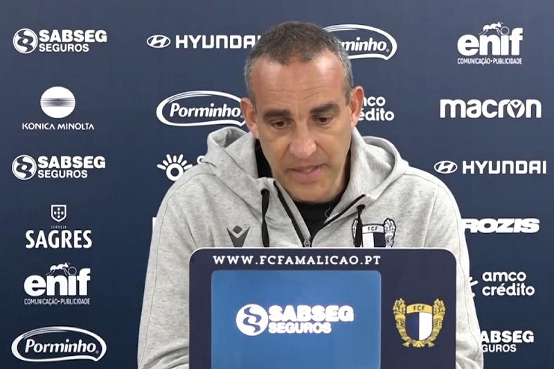 João Pedro Sousa diz que se Famalicão 'estiver tão débil como no último jogo vai perder'