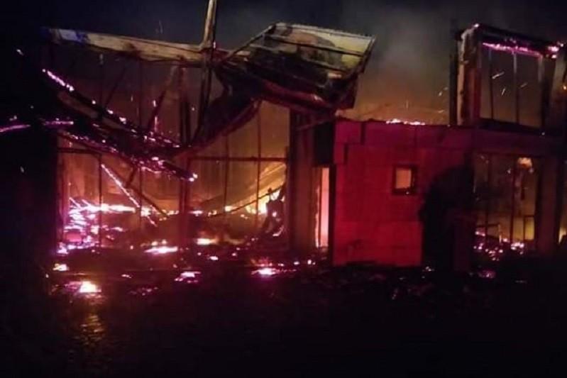 Incêndio destruiu edifício de quinta de eventos em Guimarães