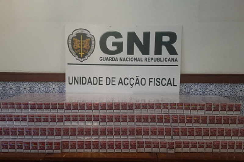 GNR apreende 70 mil cigarros de contrabando em operação na A3