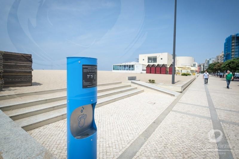 Póvoa de Varzim: Município instala dispensadores de gel antissético na cidade