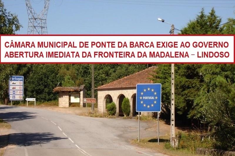 Covid-19: Ponte da Barca exige ao Governo abertura imediata da fronteira com Espanha