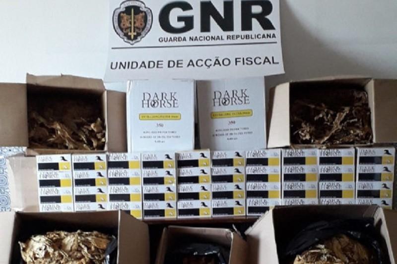 GNR apreende 129 quilogramas de folha de tabaco em fábrica artesanal de Braga