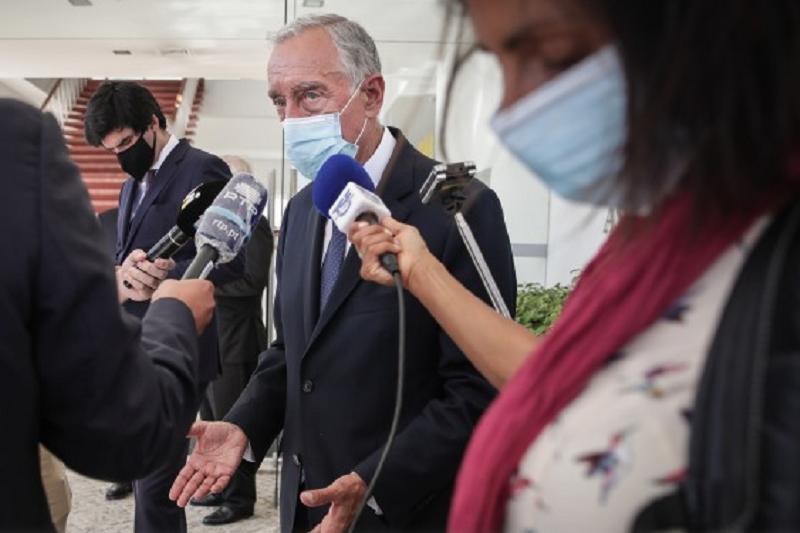 Marcelo, Felipe VI, Costa e Sánchez assinalam juntos a reabertura da fronteira
