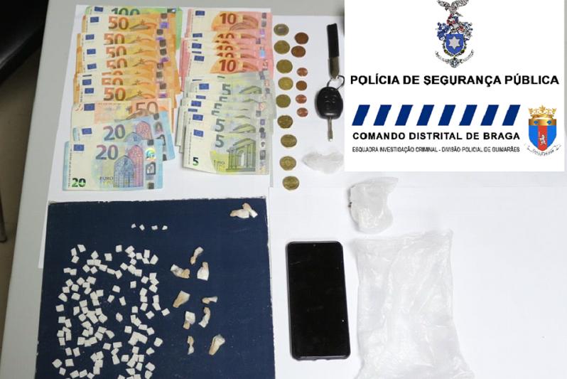GUIMARÃES: Prisão preventiva para suspeito de tráfico de droga