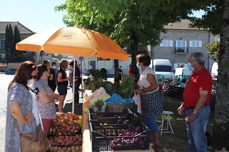 Produtos da terra e velharias animam Praça D. Gualdim Pais