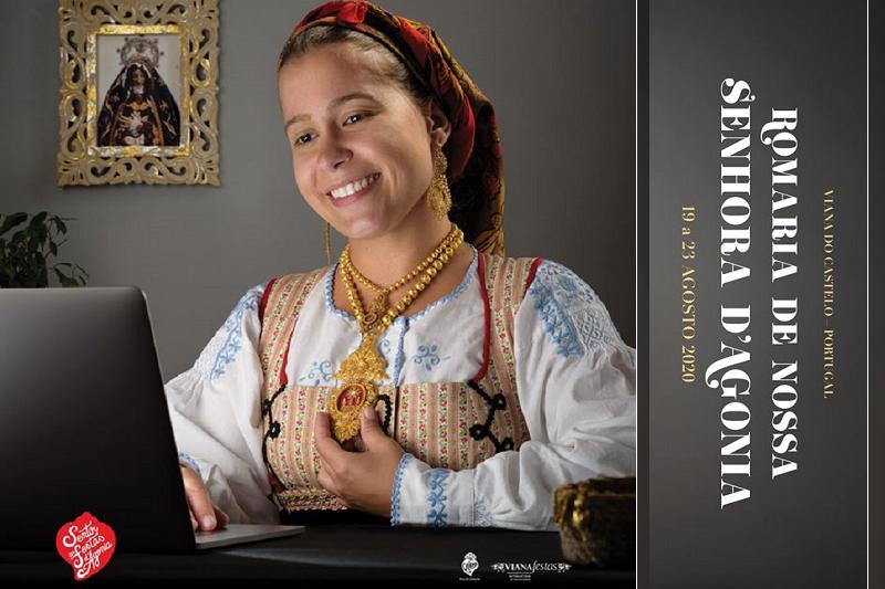 Covid-19: Vivência à distância da Romaria dAgonia em Viana inspira cartaz da edição 2020